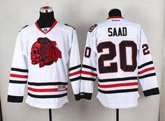 NHL Chicago Blackhawks 20 SAAD White jerseys