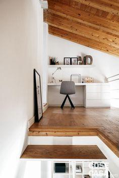 Mezzanine Loft, Interior Architecture, Interior Design, Scandinavian Bedroom, Kitchen Interior, Home And Living, Home Office, Tiny House, Sweet Home