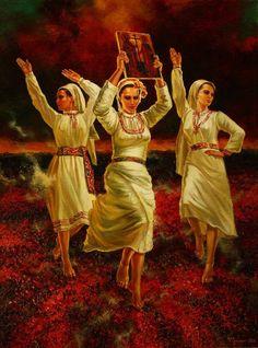 Nestinarki, or Fire Dancers by Vasil Goranov Нестинарки. худ. Васил Горанов,