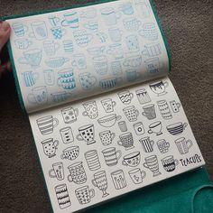 day two of #cbdrawaday ! double teacups @creativebug #creativebug #sketchbook #drawing #art
