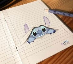 Stitch Dessin ✏ - Real Tutorial and Ideas Easy Disney Drawings, Disney Princess Drawings, Cool Art Drawings, Pencil Art Drawings, Art Drawings Sketches, Drawing Art, Easy Drawings, Drawing Disney, Tattoo Drawings