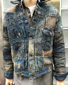 Shibori, Boro, Denim Vintage, Estilo Jeans, Mode Jeans, Denim Ideas, Dolce E Gabbana, Japanese Textiles, Patched Jeans