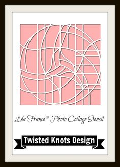 This is our Twisted Knots design from our French Photo Collage Pink collection. Scrapbook Templates, Scrapbook Pages, Scrapbooking Ideas, Scrapbook Layouts, Outline Meaning, Plasma Cutter Art, Beautiful Collage, France Photos, Metal Artwork