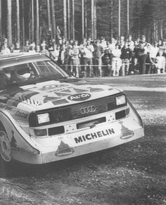 """""""Needs more power."""" - Stig Blomqvist on the evolution Audi Quattro S1 after 1000 Lakes Rally 1985."""