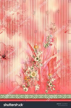 Illustration about Floral watercolor seamless pattern on vertical stripe. Illustration of checks, flower, ethnic - 143416667 Digital Print Textiles, Textile Prints, Textile Design, Flower Art Images, Border Embroidery Designs, Background Images Wallpapers, Leaf Wall Art, Vector Flowers, Design Seeds