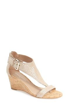 DONALD J PLINER 'June' T-Strap Wedge Sandal (Women). #donaldjpliner #shoes #sandals