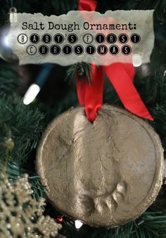 Salt Dough Ornament: Baby's First Christmas - Do Small Things with Love