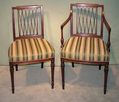 hepplewhite shield back chair with reeding on the front legs old designs antiques. Black Bedroom Furniture Sets. Home Design Ideas