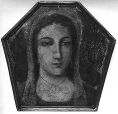 Portret trumienny szlachcianki h. Dąb, olej na blasze miedzianej, Polska, XVIII/XIX w.