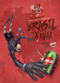 Vai, Xavante - Fruki Guaraná on Behance