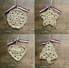 Crochet Ornaments - Tutorial ❥ 4U // hf