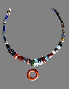 """""""The Pagan Lady's necklace, excavated in 1984 from a grave at Peel Castle, Peel, German --it is thought to date from mid to late Viking Jewelry, Ancient Jewelry, Wicca, Pagan Fashion, Beaded Necklace, Beaded Bracelets, Archaeological Finds, Norse Vikings, Viking Age"""