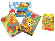 Malowanie piaskiem PIASKOWE OBRAZKI - 2 malowanki - zabawki kreatywne dla chłopców i dziewczynek
