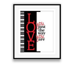 I Love You Just the Way You are   Billy Joel - Lyric Art Poster