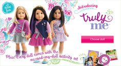 Choose a Truly Me™ doll that celebrates you and make her unique to you. American Girl offers dolls that look like you, just like me dolls, curly haired dolls, red haired dolls, and more! Cosas American Girl, Little Sisters, Girl Dolls, Red Hair, Doll Clothes, Curly Hair Styles, Celebrities, Fun, Accessories