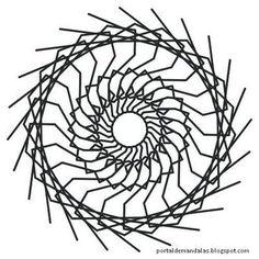 Portal de Mandalas: Mandala para pintar - 2 - Interiorização - com instruções