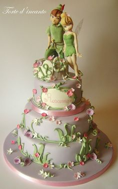 I love the idea of the cake but the characters could have been a whole lot better.  Peter Pan Tinkerbell Cake