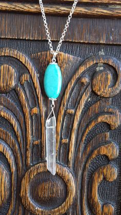 Spiritual Jewelry Quartz Crystal Pendant  by AfricanBellaGems, $40.00