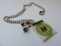 The Ramones and Headphone Charm Necklace by SANDJHOTSHOTS on Etsy