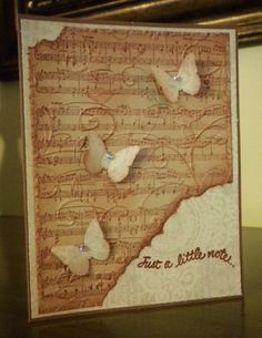 WT430~Just a (musical) note... by pinkberry - Cards and Paper Crafts at Splitcoaststampers
