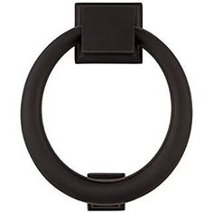 A'dor PK4.613 Solid Brass Ring Door Knocker with Square Bases in Oil Rubbed Bronze
