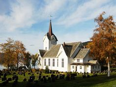 The Stangvik church at a Nordmøre fjord was built in 1896, replacing an older church.