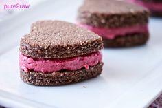 Pink Heart Cookie Sandwich