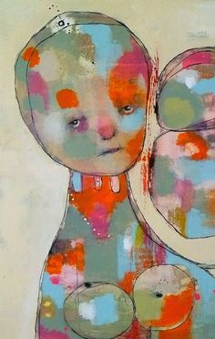 P L E A S U R E....Original Mixed Media Painting by Christina Romeo