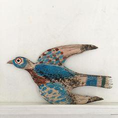 Mark Hearld Art Carved, Carved Wood, Glasgow School Of Art, Wood Bird, Insect Art, Royal College Of Art, Bird Sculpture, All Birds, Bird Art