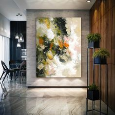 Extra Large Wall Art, Floral Bronze Copper Painting on Canvas,Expressionism, Textured Painting Extra Large Wall Art Modern Wall Decor Large Artwork, Large Canvas Art, Extra Large Wall Art, Colorful Artwork, Abstract Canvas Art, Large Painting, Texture Painting, Knife Painting, Acrylic Art