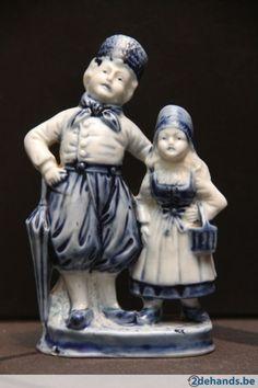alte original delft figur vase schale delfter porzellan weiss blau holland delfter figuren. Black Bedroom Furniture Sets. Home Design Ideas