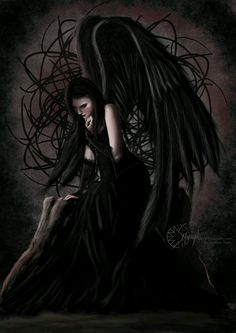 Angel After Dark. Top Gothic Fashion Tips To Keep You In Style. Consistently using good gothic fashion sense can help Dark Angels, Angels And Demons, Fallen Angels, Dark Gothic Art, Gothic Fantasy Art, Gothic Angel, Gothic Fairy, Beautiful Dark Art, Ange Demon