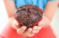 """Muffins au chocolat (vegan : 120g d'huile ou 250g de margarine au lieu du beurre, 210 ml de """"lait végétal"""", 3 cs d'egg replacer/fécule de maïs ou autre)"""