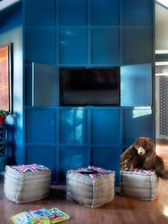 TV Wall: After - All-American Great Room on HGTV  see other pix