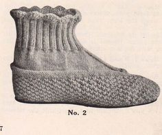 2 pairs 1916 Vintage Ladies Slippers PDF by smackdabinthesquash, $3.25