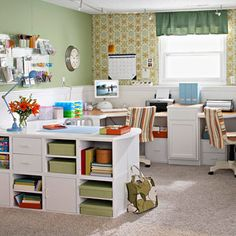 basement office, dream, scrapbook rooms, desks, craftroom, basements, home offices, crafts, craft rooms