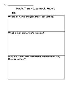 magic tree house book report questions Dinosaurs before dark (magic tree house) mixed review - print all section questions at once  dinosaurs before dark (magic tree house) book report form (pdf file.