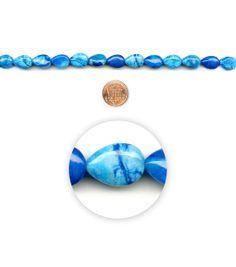 Blue Moon Beads Blue Crazy Agate Teardrop, , hi-res
