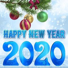 Happy New Year 2020 - Megaport Media Merry Christmas Gif, Christmas Art, Christmas Bulbs, Happy New Year Gif, Happy New Year Pictures, Christmas Cake Designs, Movies To Watch Free, Hd Movies, Share Pictures