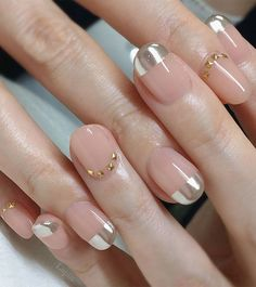 Cute Nail Art Design Ideas With Pretty & Creative Details : Metallic and stud nails