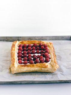 Easy Raspberry Puff Pastry Tart | Handmade Charlotte