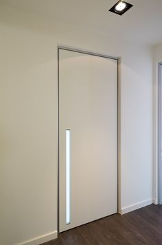 interior door with built-in plexi glass handle