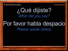 Hola, Bienvenido a Learn Spanish Naturally - Spanish Lessons and Tutorials. Learn, Practice and Improve your Spanish language skills. Spanish Grammar, Spanish Phrases, Spanish English, Spanish Words, Spanish Language Learning, English Vocabulary Words, English Phrases, Learn English Words, Learn A New Language
