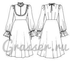 Платье, выкройка №452 купить on-line
