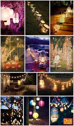 1000 images about fiesta jardin on pinterest bodas for Decoracion jardin noche