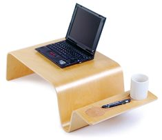 Overlap Tray - Warm up next to the fire while working or enjoy breakfast in bed. The Overlap Tray offers convenience in many forms and plenty of potential uses. Lap Table, Lap Desk, Floor Desk, Floor Lamps, Wood Table, Modern Desk Accessories, Bed Tray, Breakfast In Bed, It Goes On