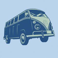 Kombi - Camiseta Clássica Azul Claro