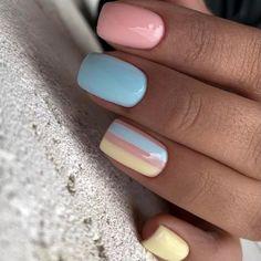Cute Nails, My Nails, Purple Nail Art, Nail Manicure, Nail Arts, Short Nails, Nail Designs, Make Up, Hair Styles