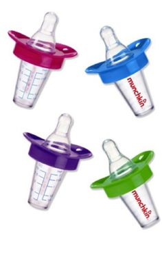 'No-Fuss Medicator' from Munchkin. Designed by a pediatrician, the bottle enables you to give liquid medicine to your baby in a shape they're familiar with. The spout bypasses the baby's taste buds, so they'll be less gagging and spit-up! Mostly stocked in the States, but we've found it online and available in the UK at Amazon.