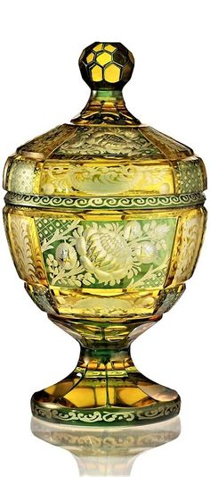 Article measured in centimetres and rounded to the nearest quarter inch. Czech Glass, Bohemian, Vase, Crystals, Antiques, Cover, Antiquities, Antique, Crystal